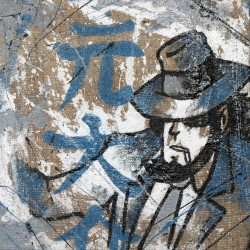Jigen - Lupin III Handpainted on Juta - Lupin the third