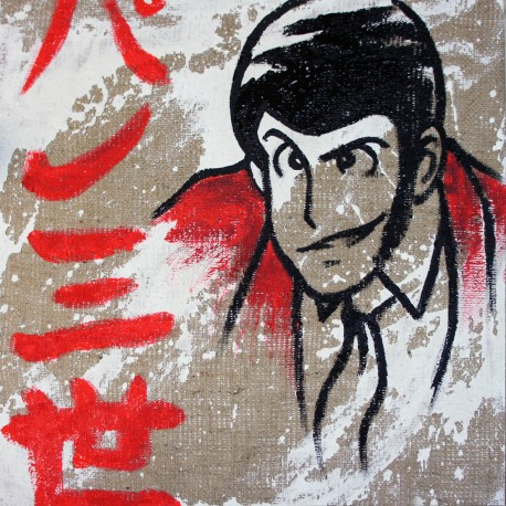 Lupin - Lupin III Handpainted on Juta - Lupin the third