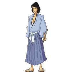 Lupin The Third, Goemon - Original Shaped Picture for Home Decoration in Comics Style