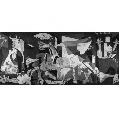 "Picasso Pablo -""Guernica"" artistic print on wood 130x60 ready to hang"