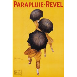 Leonetto Cappiello - Parpluie-Revel, 1922 Quadro Vintage con Stampa Fine Art su Canvas o Carta.