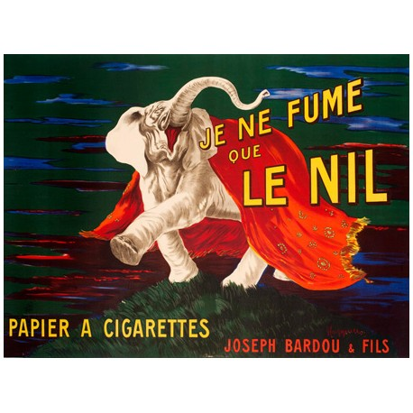 Leonetto Cappiello Je ne fume que Le Nil, 1912 High quality Print on Canvas or Artistic Paper
