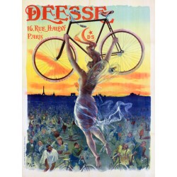 Anonymous Bicycle Déesse, 1898 Quadro Vintage con Stampa Fine Art su Canvas o Carta.