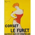 Leonetto Cappiello Corset le Furet, 1901 High quality Print on Canvas or Artistic Paper