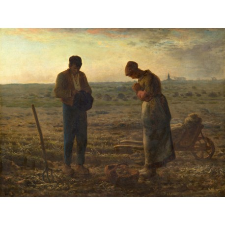 Millet-The Angelus.Ready-to-hang picture in 100% cotton Canvas or Large variety of size and material.