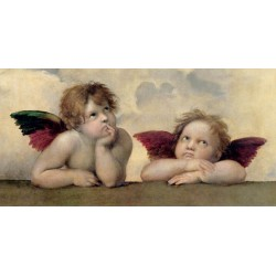 Angels (Madonna Sistina detail), Raffaello.Canvas,Poster or Ready to hang.Different sizes