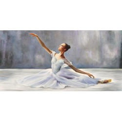 Ballerina, Pierre Benson - high quality artistic print with Classic Dancer in white Dress