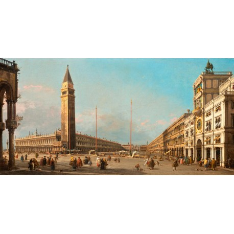 Canaletto.Piazza San Marco Looking South and West. Classic Picture for Home Decor in Living or Bedroom