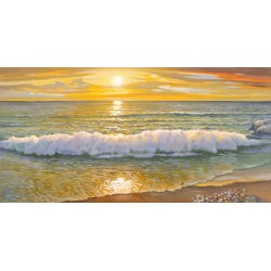 Galasso- Evening Wave High Resolution Canvas Canvas and Matte Retouching Possibilities