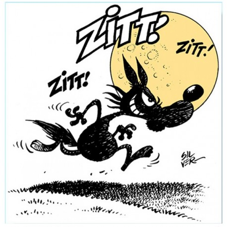 Alberto The Wolf-Zitt Zitt!, Original Silver Ready-to-hang Italian Comics Picture in a Retouche Tecnique