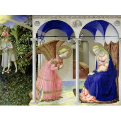 Annunciation,Beato Angelico-Ready-to-hang picture, cotton Canvas or Art Poster