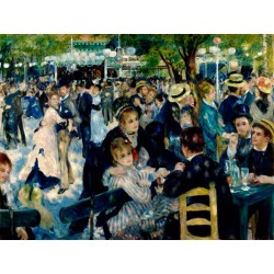Pierre-Auguste Renoir,Dance at Le Moulin de La Galette.Custom Made Picture for Home Decor use