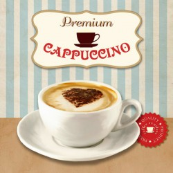 Premium Cappuccino,Skip Teller.Amazing Custom Picture for Kitchen, Breakfast or Dining Room