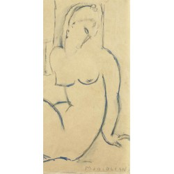 Amedeo Modigliani,Seated Woman. Made to measure Vertical Art picture for Home Decor usage