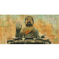 Dario Moschetta,Buddha the Enlightened. Quadro con Immagine di Buddha, soli materiali eco-friendly e non tossici