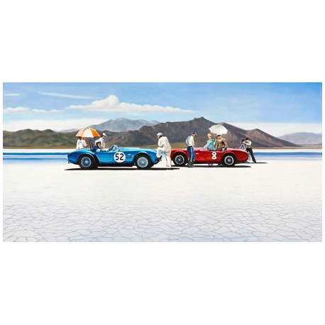 Bonneville Salt Plains,Pierre Benson-Awesome On Demand Author's picture with cars on the beach
